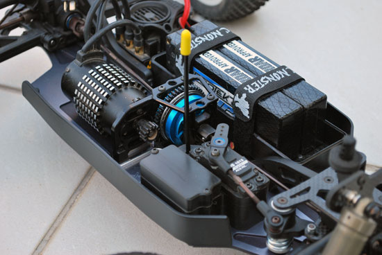 RC Monster brushless conversion for the Xray XT8 2009 spec, aka 'the madman'.