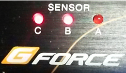 When active, the sensor led's will light.