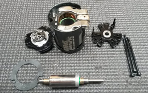 Components that make up the Schuur Speed Extreme SPEC V3 17.5T Brushless Motor.