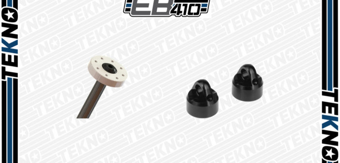Tekno RC EB410 Aluminum Shock Caps and Blank Pistons Are Now Available