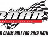 ROAR NEWS: Notice of Motor Claim Rule for 2019 Nationals